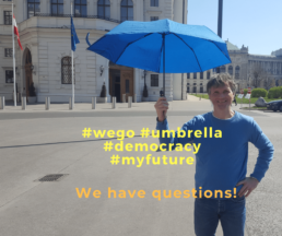 #wego #demokratie #umbrella